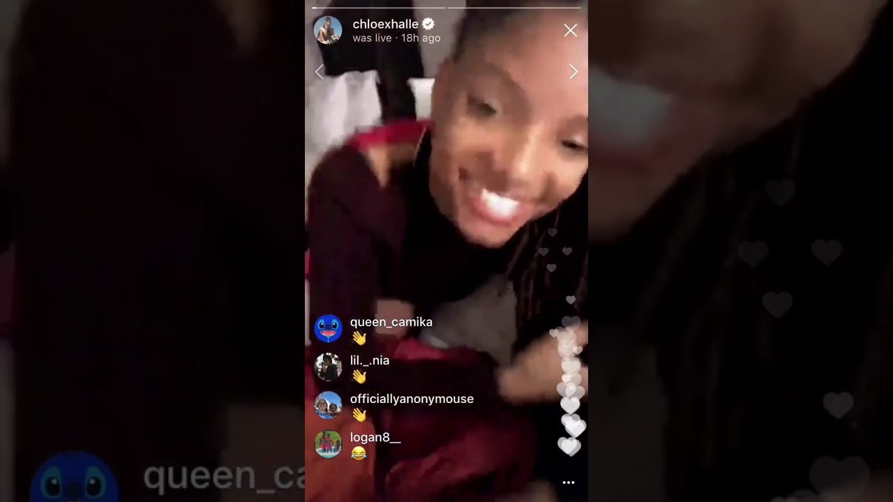 e42d23cac45 Chloe telling Halle how long her natural eyelashes are - YouTube