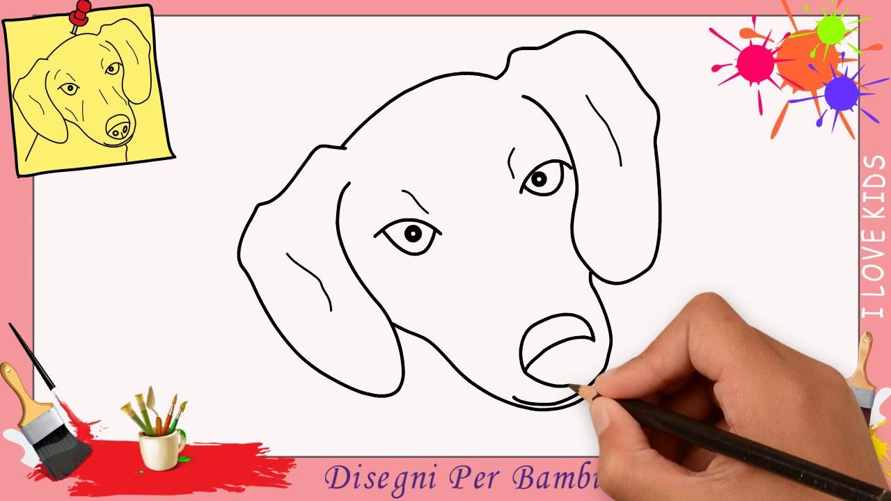 Favoloso Come disegnare un cane FACILE passo per passo per bambini  BY23