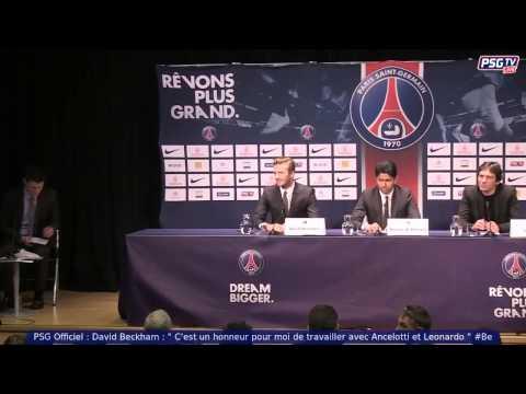 David Beckham Press Conference in Paris