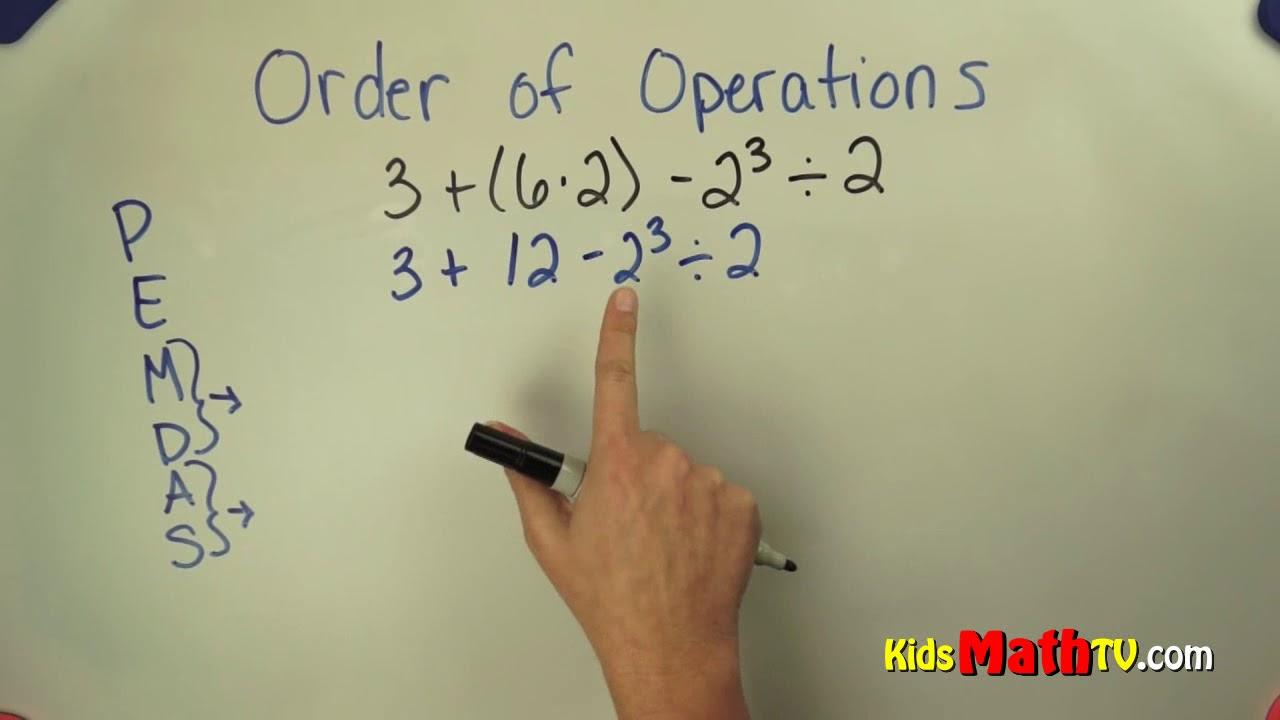 medium resolution of 7th grade algebra order of operations video   PEMDAS
