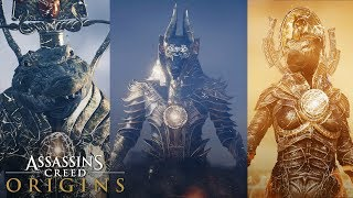 Assassin's Creed Origins - ALL TRIALS OF THE GODS (How To Unlock Anubis Outfit) ALL GOD FIGHTS