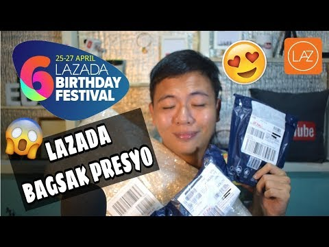 UNBOXING MY LAZADA 6th BIRTHDAY SALE ITEMS
