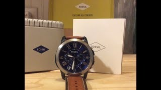 Fossil watch Unboxing and review Grant Chronograph fs5151p