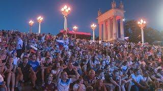 В Волгограде праздновали победу российской сборной по футболу всю ночь