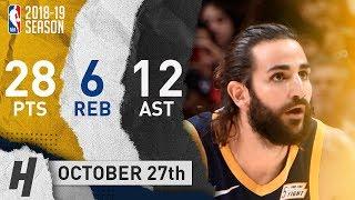 Ricky Rubio Full Highlights Jazz vs Pelicans 2018.10.27 - 28 Pts, 12 Ast, 6 Reb!