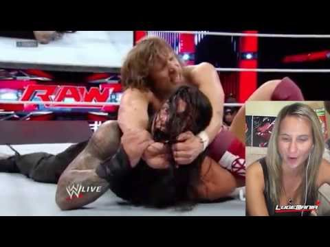 WWE Raw 9/16/13 Daniel Bryan vs Roman Reigns Locker Clearing Match Live Commentary Travel Video