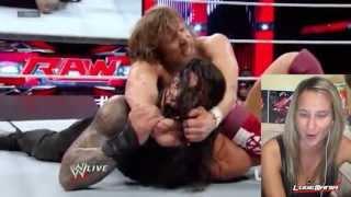WWE Raw 9/16/13 Daniel Bryan vs Roman Reigns Locker Clearing Match Live Commentary