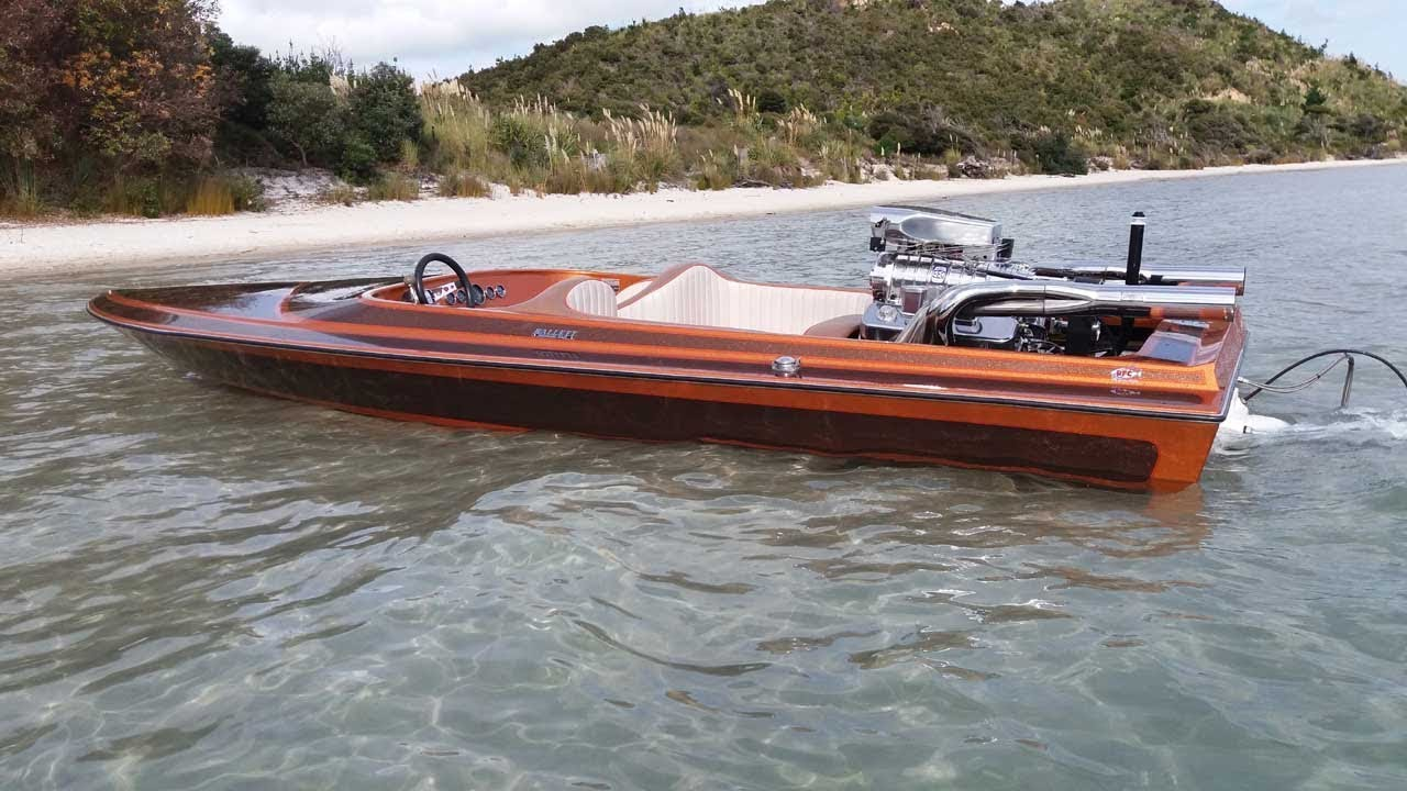 1978 Hallett Jet Boat - Supercharged BB Chevy with Als Blowers/Garlits Carb Scoop - YouTube