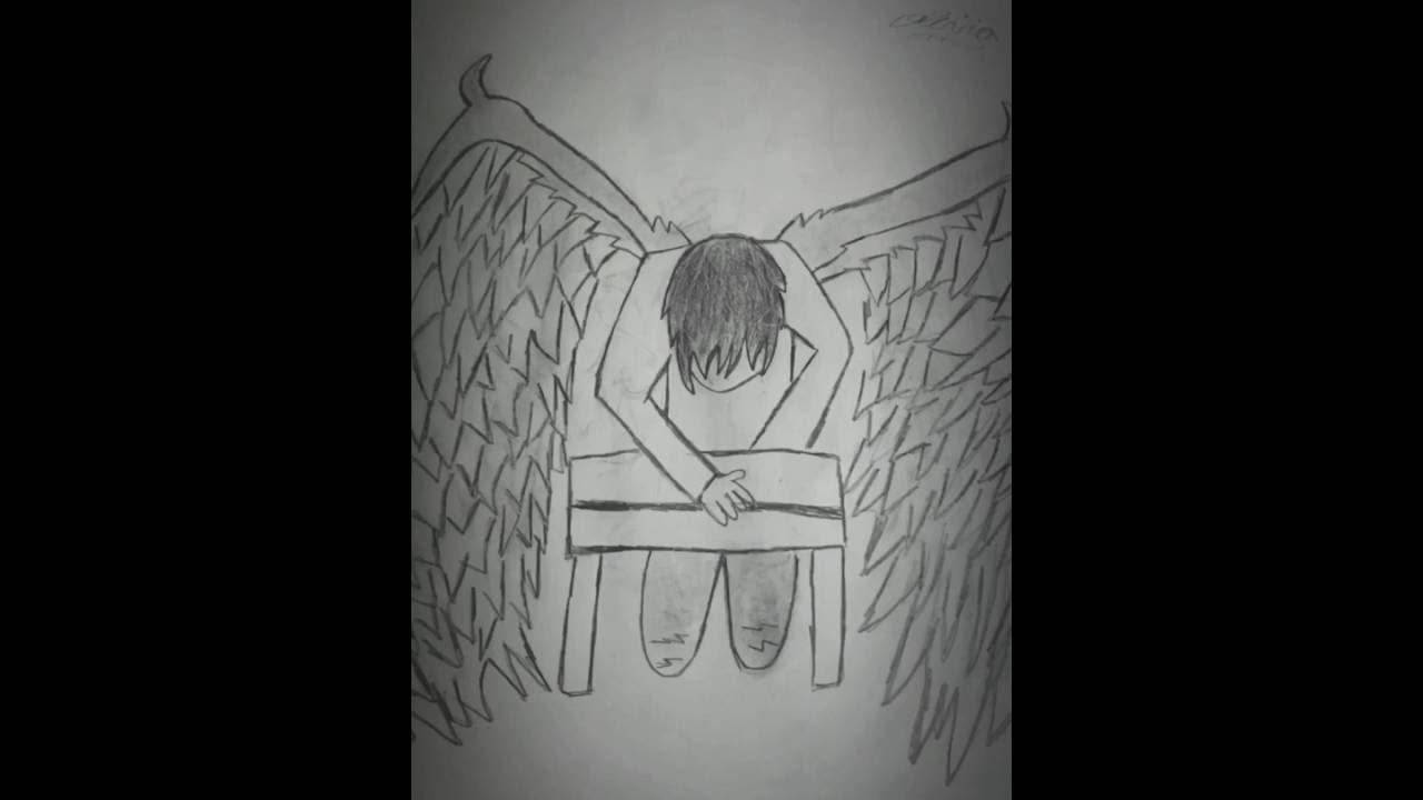 emo drawings youtube