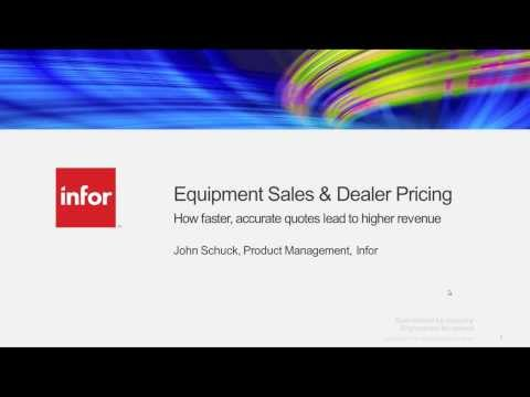 Equipment Sales and Dealer Pricing - How faster, accurate quotes leads to higher revenue
