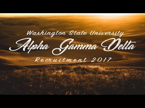 Alpha Gamma Delta - Washington State 2017 Recruitment Video