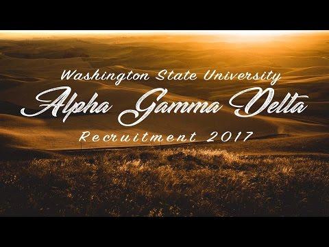 Alpha Gamma Delta - Washington State 2017 Recruitment Video