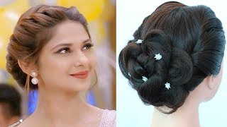 celebrity hairstyle || easy hairstyles || wedding party hairstyle || updo hairstyle || hairstyle