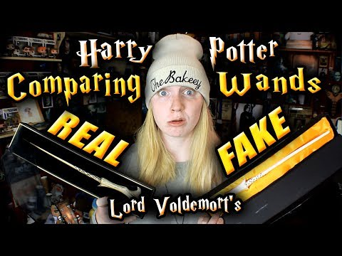 REAL VS FAKE Harry Potter Wands (Wand Comparison) Lord Voldemorts Wand