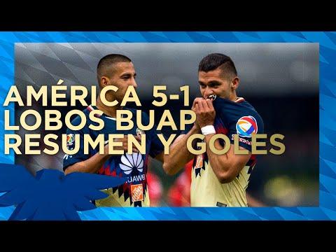 RESUMEN: Todos los goles Club América 5-1 Lobos BUAP | J5 CL18 | Liga MX
