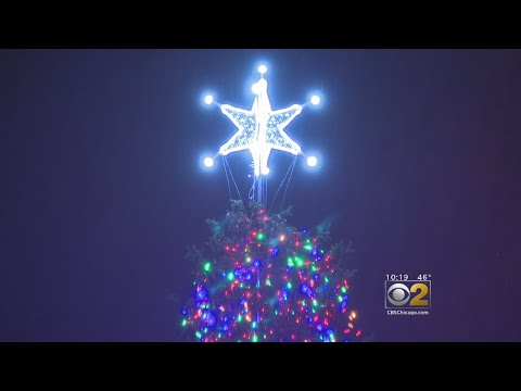 Christmas Tree Lit At Millennium Park