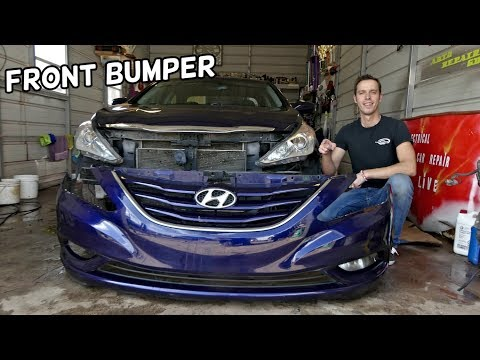HOW TO REMOVE AND REPLACE FRONT BUMPER ON HYUNDAI SONATA 2010 2011 2012 2013 2014 2015