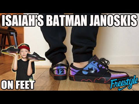 "On Feet: Isaiah's ""Batman""Nike Janoski DB ( 2015 Doernbecher Freestyle)"