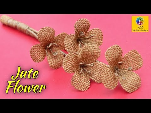 Beautiful flower decoration idea with jute rope | Home Docor Jute Flower | Jute Art and Craft