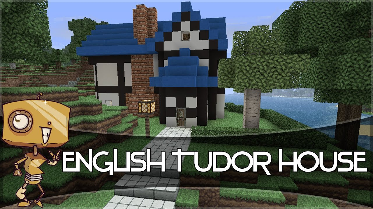minecraft let u0027s build a english tudor style house youtube