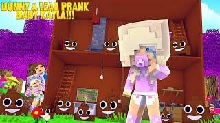 Minecraft LITTLE LEAH & LITTLE DONNY PRANK PRINCESS BABY KAYLA!!!