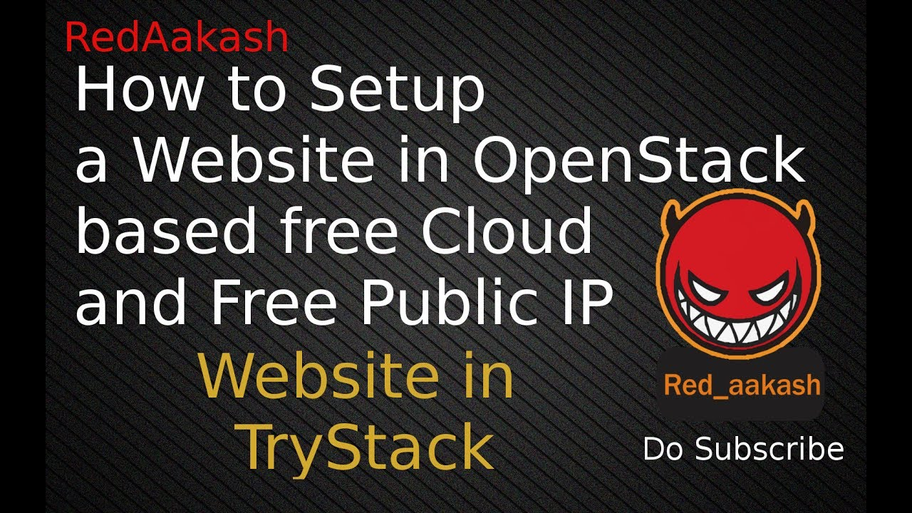 (HINDI)TryStack : Setup a website in Cloud instance   TryStack OpenStack  based Cloud
