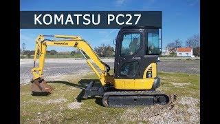 Обзор мини-экскаватора KOMATSU PC27 | Спецтехника из Европы.