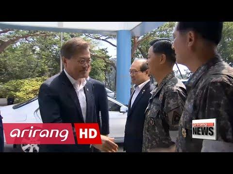 South Korean president observes test-firing of 800km range home-grown missile