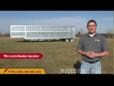 For the Pros - Tour the Semi Livestock Trailer Featherlite Model 8261