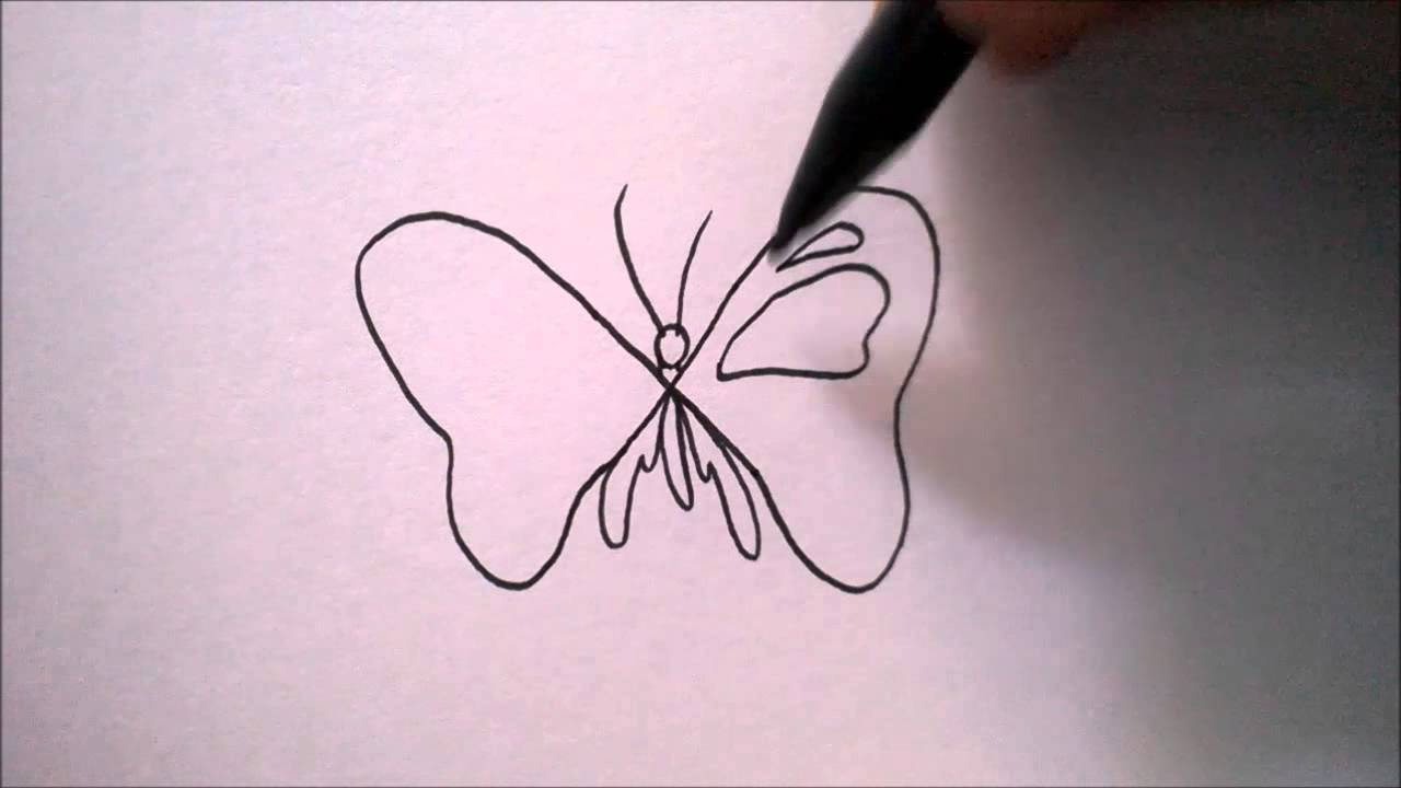 Cara Menggambar Kupu Kupu Dari Huruf X How To Draw A Butterfly From A Letter X Youtube