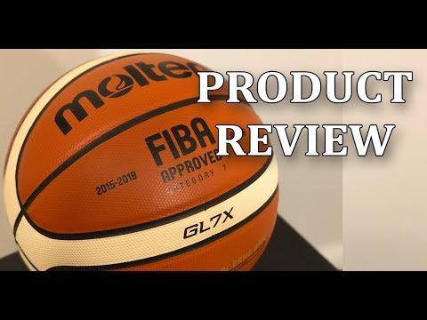 Molten BGLX (GL7X) Premium Indoor Leather Basketball, FIBA Official