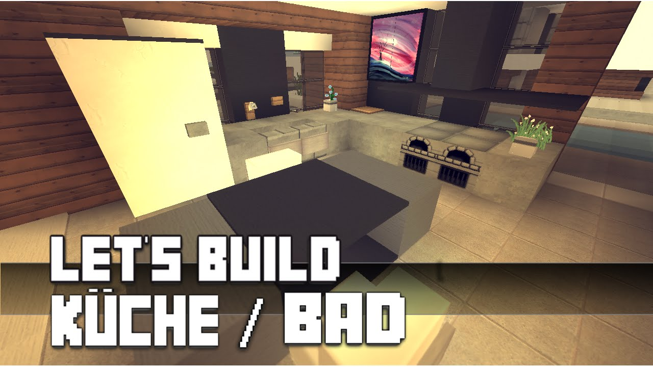 minecraft m bel tutorial moderne k che bad 4 haus nr 10 youtube. Black Bedroom Furniture Sets. Home Design Ideas