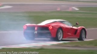 LaFerrari SPIN OUT, Spitting Flames & Huge Sounds!