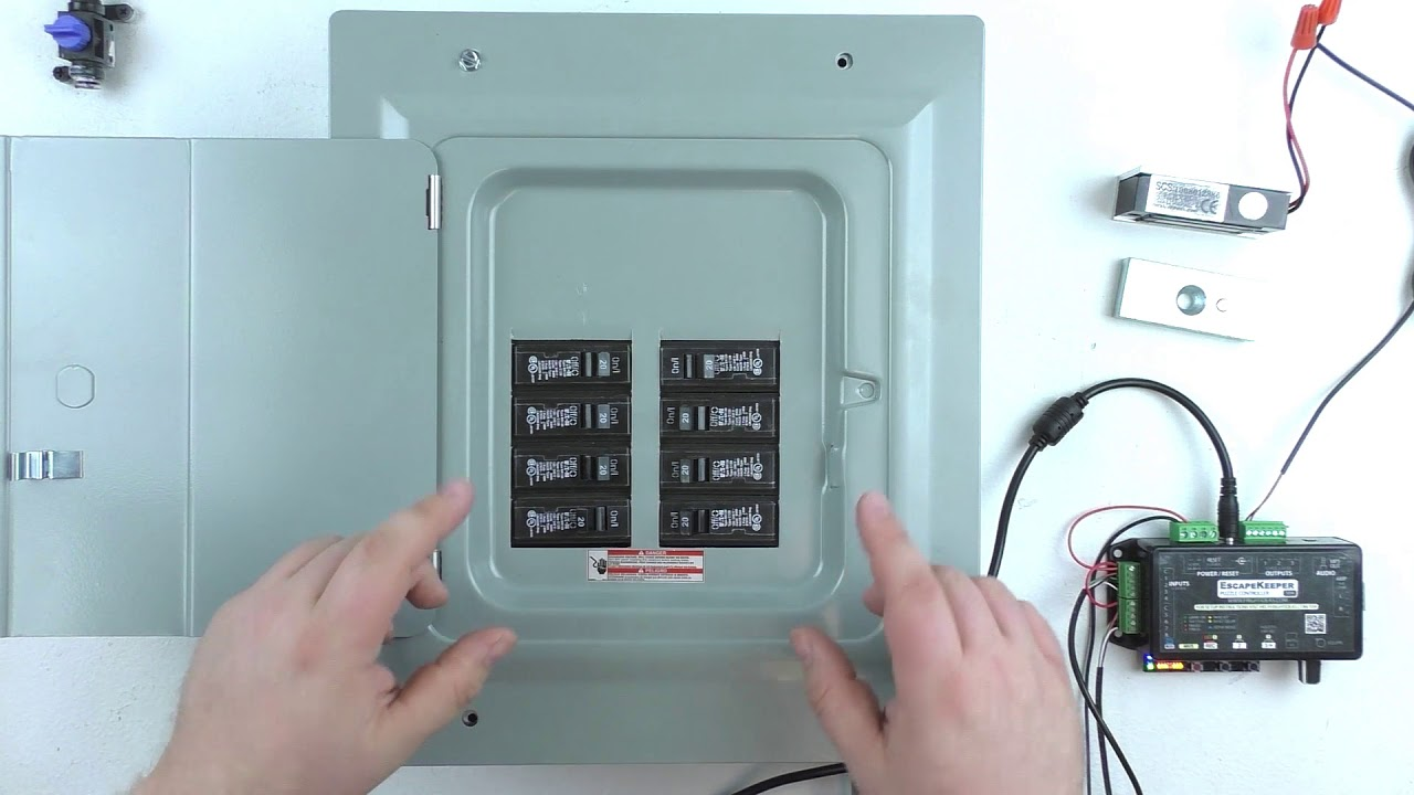 flip the switches fuse box escape room prop