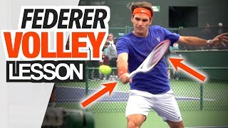 Volley Like Roger Federer - One Handed Backhand Volley Tennis Lesson
