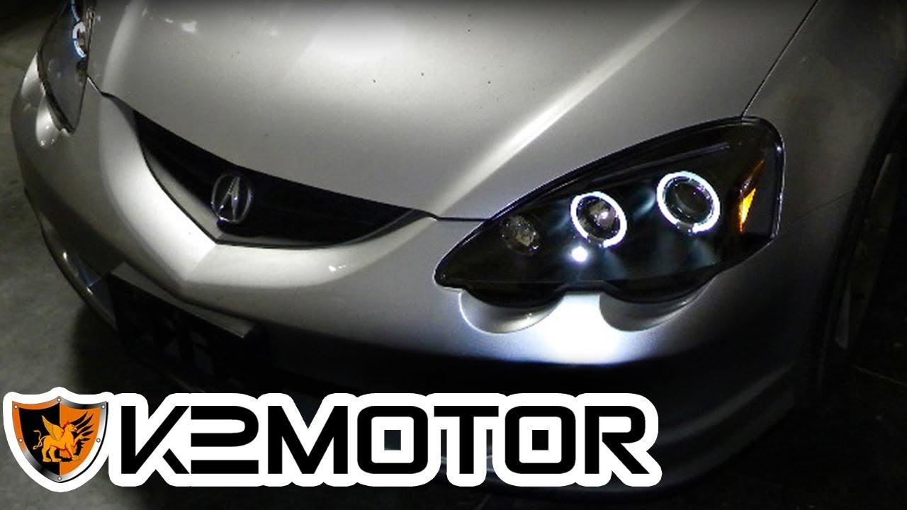 K MOTOR INSTALLATION VIDEO ACURA RSX PROJECTOR HEAD - Acura rsx headlights
