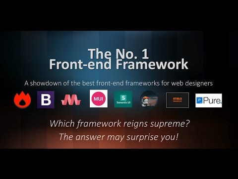 The No.1 Frontend Web Framework