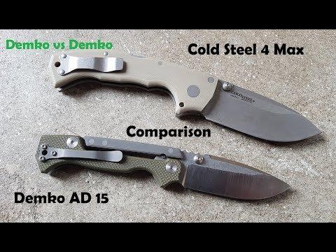 Knife Comparison ColdSteel 4Max Demko Knives AD 15