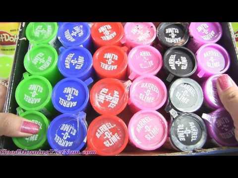 Mở 24 Thùng Slime Barrel 💗Slime Caution 🍓Nhiều Màu Sắc Đẹp Rực Rỡ ( Bí Đỏ) Slime O' Barrel Slime