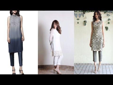 Beautiful   Salwar Suit With Cigarette Pants || Cropped Cigarette Pants Suits Ideas For Casual