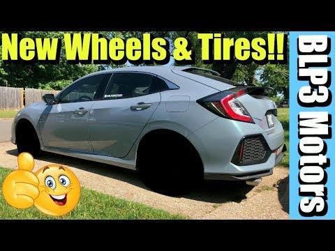 Honda Civic New Wheels and Tires (Full Install) 2018