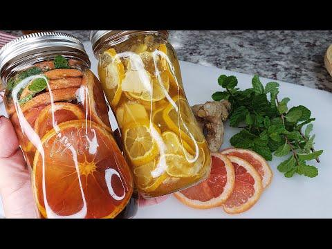 HONEY CITRUS PRESERVE | Honey Lemon Ginger Tea |Grapefruit Mint Honey Tea