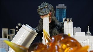 NECA 2001 GMK GODZILLA 12 INCH HEAD-TO-TAIL KAIJU FIGURE REVIEW