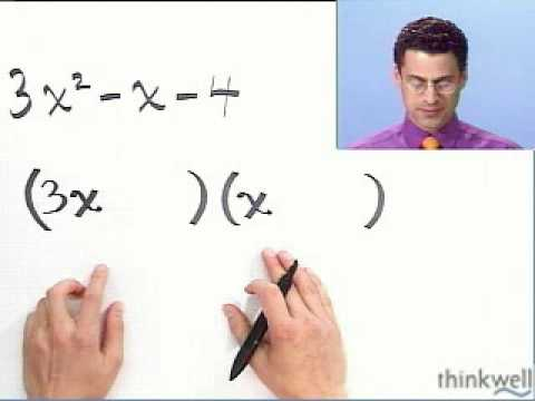 Factoring Trinomials Completely, Part 1 of 2, from Thinkwell College Algebra