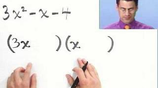 Factoring Trinomials Completely, Part 1 of 2, from Thinkwell College Algebra thumbnail