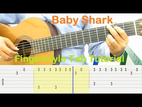 baby shark fingerstyle tutorial guitar tabs guitar lessons for beginners youtube. Black Bedroom Furniture Sets. Home Design Ideas