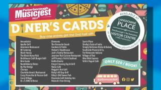 2017 Peterborough Musicfest Diner's Cards