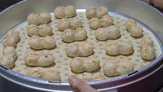 Peanut dumplings - korean street food