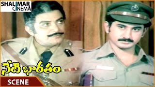 Neti Bharatam Movie || Sarma Tells Suman To Release Durgayya || Vijayashanti || Shalimarcinema