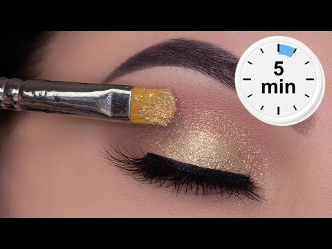5 MINUTE Easy Soft Sparkly Eye Look for Everyday Wear